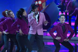 """Ne-Yo performs on the Dolby Theater Stage for the ABC Television Special, """"The Wonderful World of Disney: Disneyland 60"""" that will air February 21st at 8 p.m. (c) OC Register"""