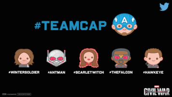 Teamcap Marvel Captain America Civil War Twitter Emojis