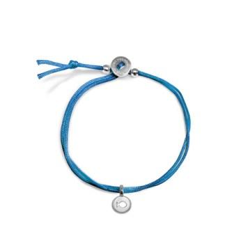Mini Addition Blue Cord Bracelet in Sterling Silver (c) Alex Woo