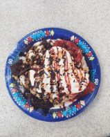 Funnel cake at Stage Door Cafe