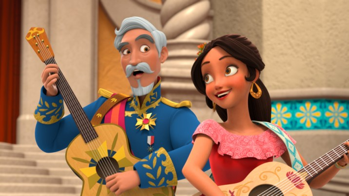 """ELENA OF AVALOR - """"First Day of Rule"""" - Elena officially becomes crown princess and rescues her sister, Isabel, from Noblins, elf-like shapeshifting creatures based on a Chilean peuchen myth. (Disney Channel) FRANCISCO, ELENA"""