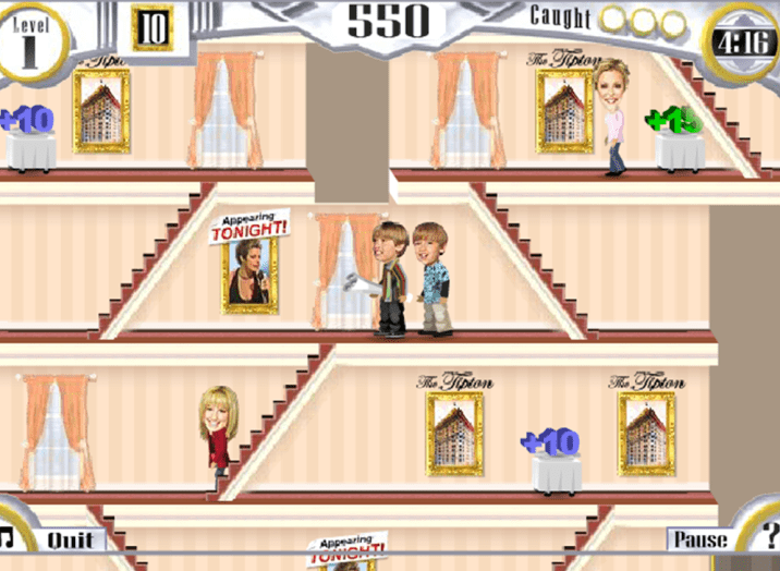 Disney Channel Online Game The Suite Life of Zack and Cody Tipton Trouble