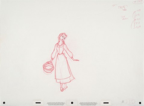 Beauty and the Beast 25th Anniversary Blu Ray DVD Digital HD Set Belle Sketch Concept Art