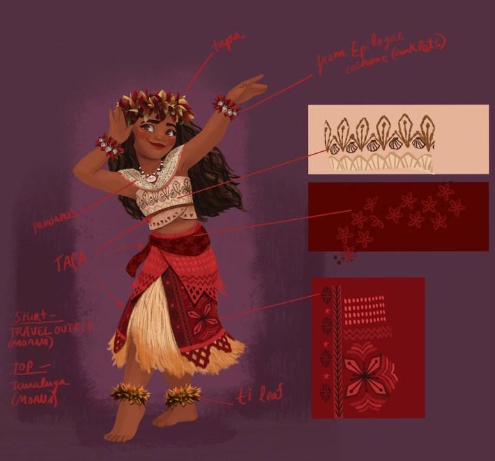 Disney Moana Early Press Day DisneyExaminer Neysa Bove Costume Design