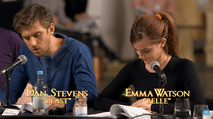 Beauty and the Beast Table Read Dan Stevens Emma Watson Belle