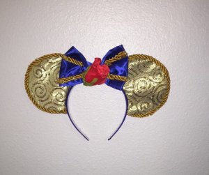 Beauty and the Beast Minnie Mouse Customizable Handmande DIY Ears Etsy TinksTrinketsnCrafts