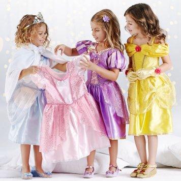 Disney Holiday Season Shopping Black Friday Gift Ideas 2016 Disney Princess Costume Wardrobe Set for Kids 10 Pieces