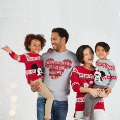 Disney Holiday Season Shopping Black Friday Gift Ideas 2016 Holiday Family Sweater Collection Mickey Mouse