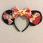 Lady and the Tramp Spaghetti Minnie Mouse Customizable Handmande DIY Ears Etsy TinksTrinketsnCrafts