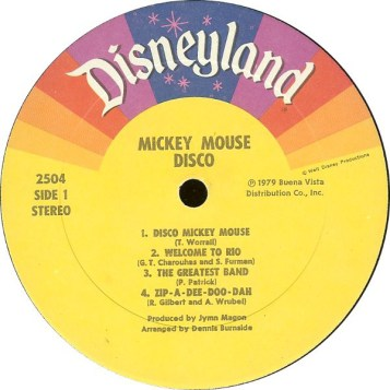 Mickey Mouse Disco Record Vinyl Walt Disney Records Music