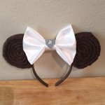 Princess Leia Star Wars Minnie Mouse Customizable Handmande DIY Ears Etsy TinksTrinketsnCrafts