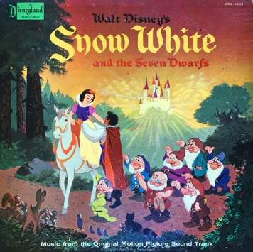 Snow White and the Seven Dwarfs Record Vinyl Cover Walt Disney Records Music