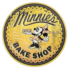 Minnie's Bake Shop Wall Sign Kitchen Gift Ideas Grown Ups