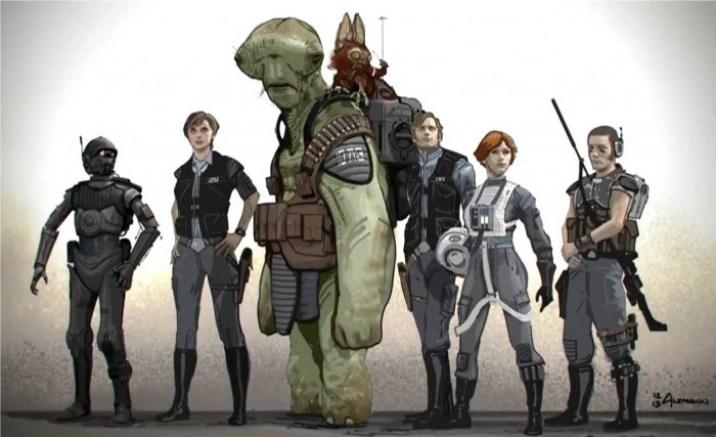 Rogue One A Star Wars Story Original Rebel Team Concept Art