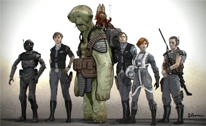 Rogue One A Star Wars Story Original Rebel Team Concept Art