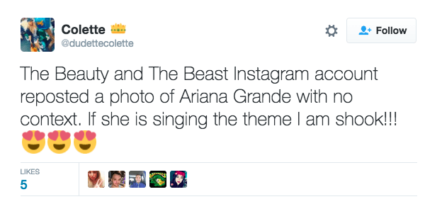 Ariana Grande John Legend Beauty and the Beast Twitter Reaction 3