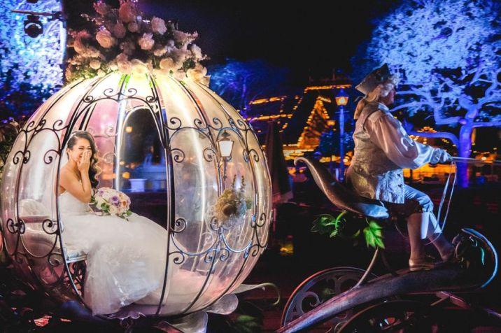 Disney Fairy Tale Weddings Freeform Cinderella's Coach Carriage Ride Ruby and Eric
