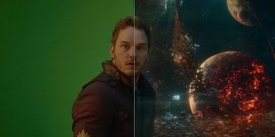 Marvel Guardians of the Galaxy Vol 2 Visual Effects Star Lord Green Screen
