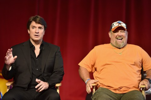 Nathan Fillion (L - Sterling) and Larry the Cable Guy (R - Mater)