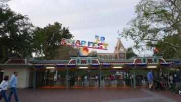 Pixar Fest Disneyland Logo Entrance