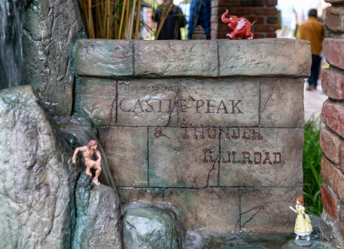 Castle Peak And Railroad Dave Sheegog Mini Disneyland Feature DisneyExaminer Entrance