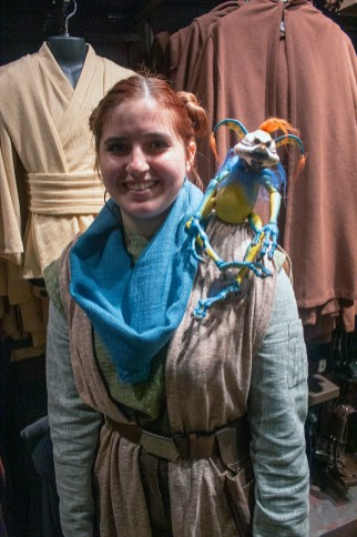 A merchant has this creature on her shoulder, she'd be glad to sell it to you. It is available at one of the many shops at Black Spire Outpost. Photo by Mark Eades.
