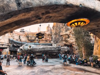 There is nothing more spectacular than finally walking under the bridge and seeing the iconic millennium falcon standing right there!! I'll always remember the first day I walked up there with my friends. It was quite an emotional experience.