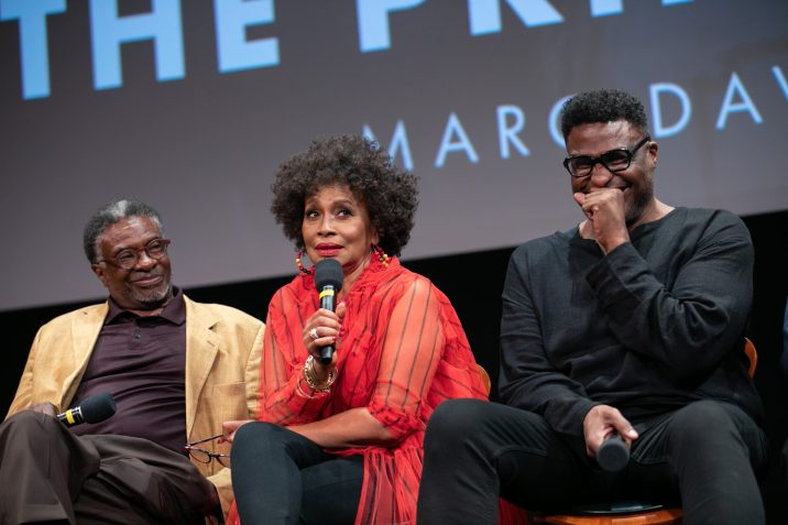 """Keith David (left), Jenifer Lewis (center) and Michael-Leon Wooley prior to """"The Princess and the Frog"""" presented by the Academy of Motion Picture Arts and Sciences as part of the Marc Davis Celebration of Animation, on Thursday, September 5, 2019."""