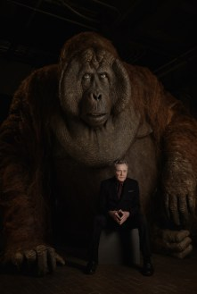 """THE JUNGLE BOOK - King Louie is a formidable ape who desperately wants the secret of Man's deadly """"red flower""""--fire. He's convinced Mowgli has the information he seeks. """"King Louie is huge--12 feet tall,"""" says Christopher Walken, who voices the character. """"But he's as charming as he is intimidating when he wants to be."""" Photo by: Sarah Dunn. ©2016 Disney Enterprises, Inc. All Rights Reserved."""