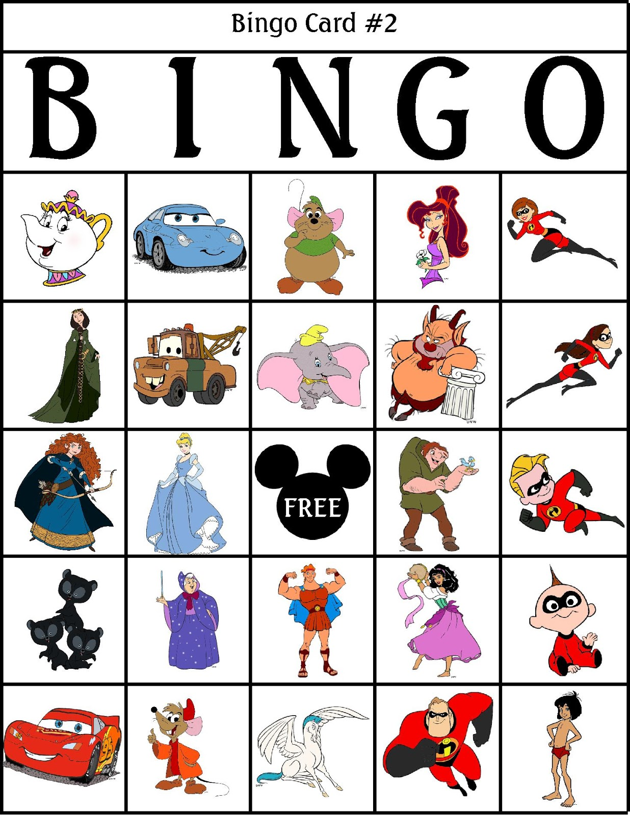 photograph regarding Disney Bingo Printable named Bingo Game titles For The Disney Enthusiast