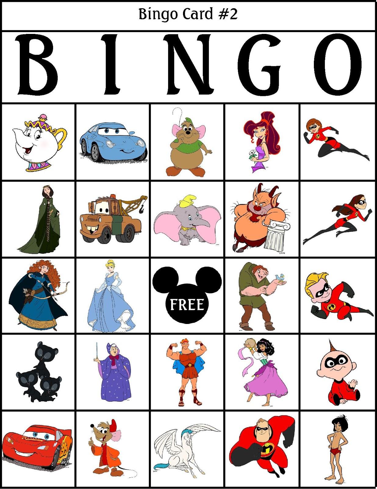 photo about Disney Bingo Printable identified as Bingo Game titles For The Disney Lover