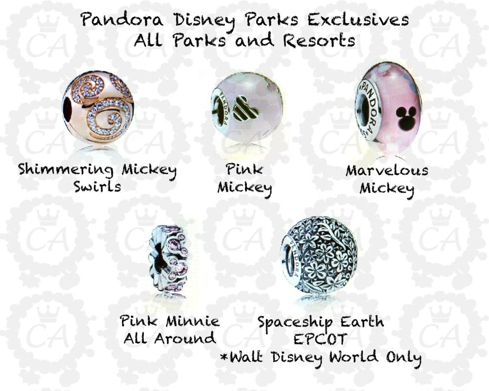 New Pandora Disney Parks Exclusive Spring Summer 2016