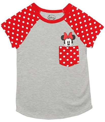 DISNEY Really Cute Minnie /& Mickey Red T-Shirt NWT