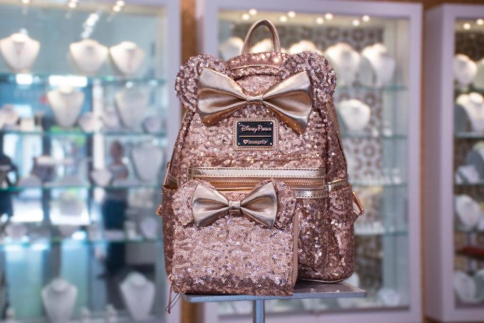 The New Sequin Rose Gold Minnie Backpack Is Now Available at Disney Springs! 3bd5e57d69bbd