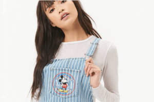 Striped Mickey Denim Dress