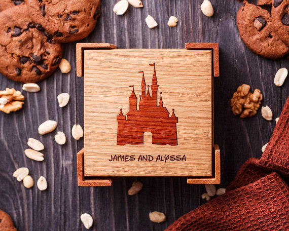 Personalized Disney Wooden Coasters