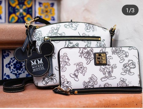 457dd76295 Mickey Mouse will be celebrated on the new Mickey Mouse black and white  Dooney and Bourke. This pattern features Mickey Mouse in his sketch phase  and ...