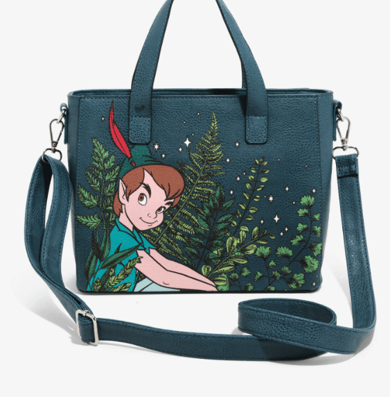 ef0617fcaf5 Peter Pan Loungefly Tote Bag Brings Pixie Dusted Style