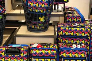 Colorful Mickey Luggage Collection