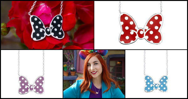 Minnie Mouse Bow Necklace