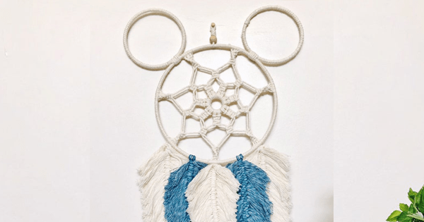 Mickey Macrame Wall Hanging