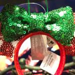 Peppermint Minnie Headband Ornament