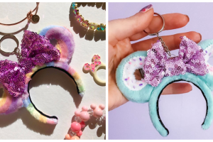 Fluffy Minnie Donut Keychains