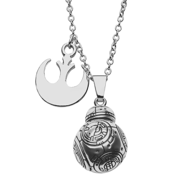 BB-8 Rebel Charm Pendant Necklace
