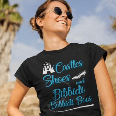Castles Shoes And Bibbidi Bobbidi Boos Tee