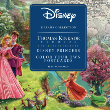 Colorable Thomas Kinkade Princess Postcards
