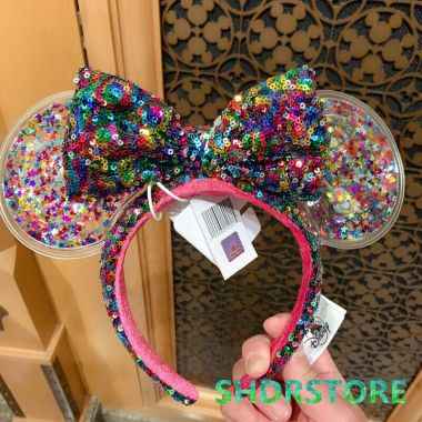 Rainbow Confetti Minnie Mouse Ears