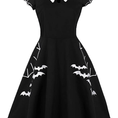 Bat And Spider Web Dress