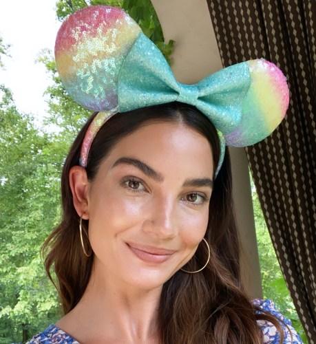 Lily Aldridge Minnie Ears