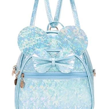 Sparkly Blue Minnie Convertible Mini Backpack